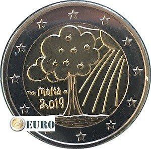 2 euros Malte 2019 - Nature et Environnement UNC poinçon MdP