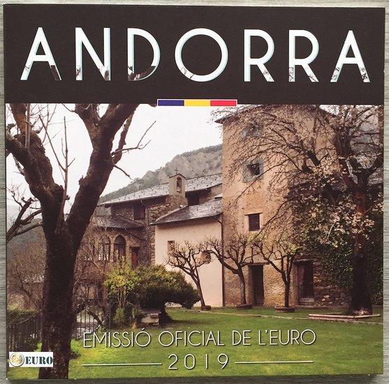 Série euro BU FDC Andorre 2019