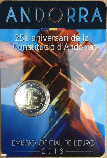 2 euros Andorre 2018 - 25 ans Constitution BU FDC
