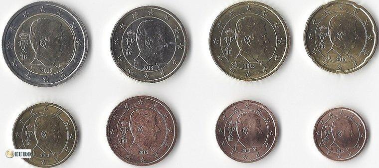 Série euro UNC Belgique 2016