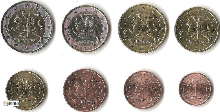 Série euro UNC Lituanie 2015