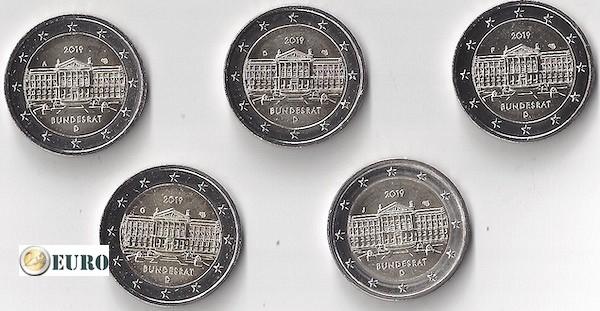 2 euros Allemagne 2019 - ADFGJ Bundesrat UNC