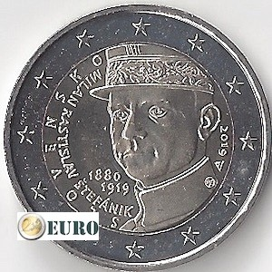 2 euros Slovaquie 2019 - Milan Rastislav Stefanik UNC