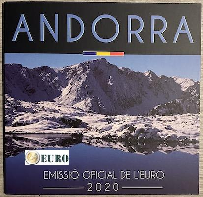 Série euro BU FDC Andorre 2020