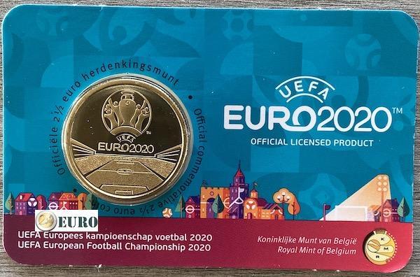 2,50 euros Belgique 2021 - Championnat d'Europe UEFA EURO 2020 BU FDC Coincard NL