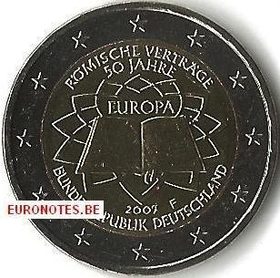 Allemagne 2007 - 2 euros F Traité de Rome TdR UNC