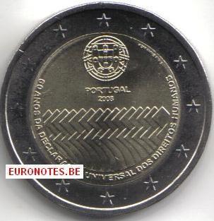 Portugal 2008 - 2 euros Droits de l'Homme UNC
