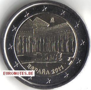 Espagne 2011 - 2 euro La Cour des Lions UNESCO UNC