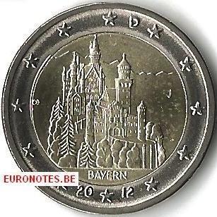 Allemagne 2012 - 2 euro J Bavière UNC