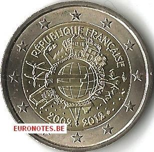 France 2012 - 2 euro 10 ans euro UNC