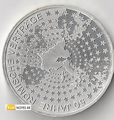 Allemagne 2007 - 10 euros F 50 ans TdR BU FDC