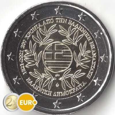 2 euros Grèce 2021 - Révolution grecque UNC