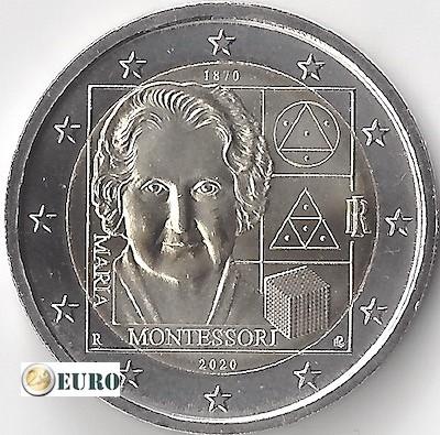 2 euros Italie 2020 - 150 ans Maria Montessori UNC