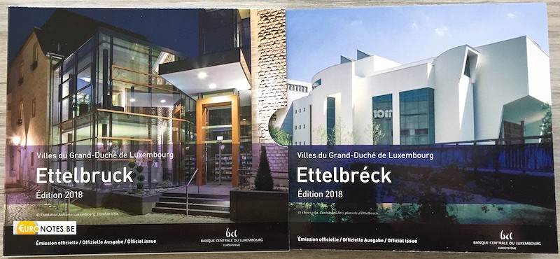 Luxembourg 2018 - série euro BU FDC Ettelbreck