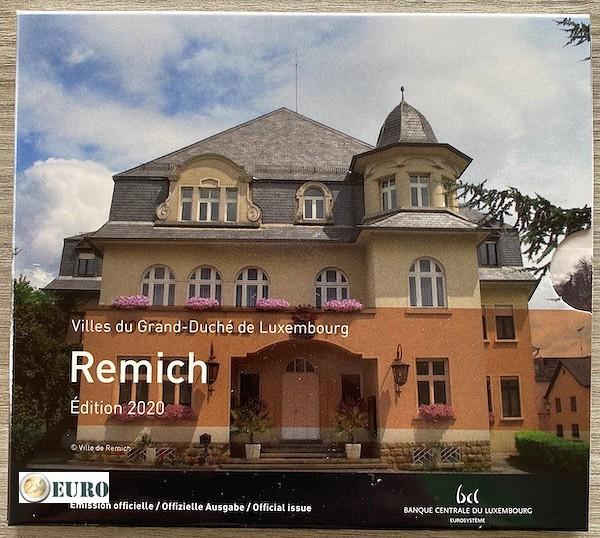 Série euro BU FDC Luxembourg 2020 Remich + 2 euros Henri