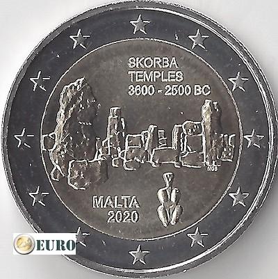 2 euros Malte 2020 - Temple Skorba UNC