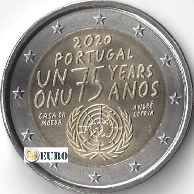 2 euros Portugal 2020 - Nations Unies ONU UNC