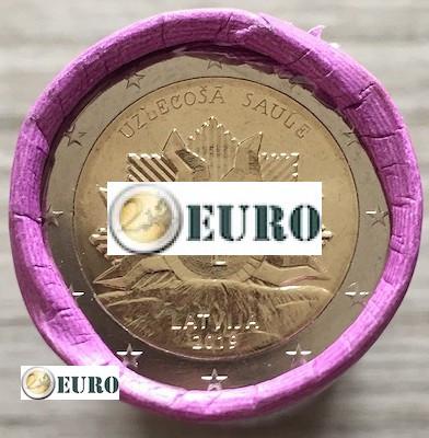 Rouleau 2 euros Lettonie 2019 - Armoiries - Lever du Soleil