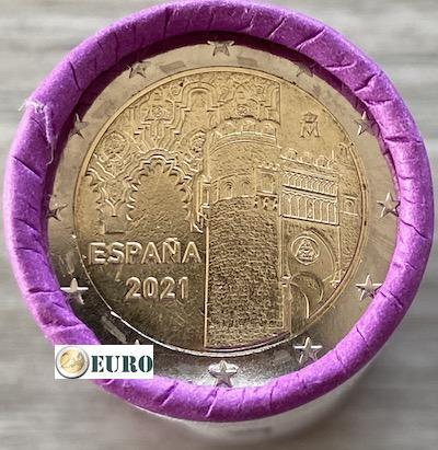Rouleau 2 euros Espagne 2021 - Vieille ville de Tolède