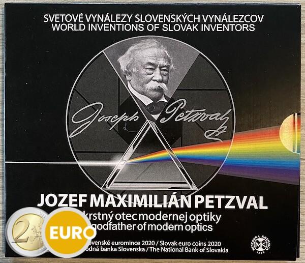 Série euro BU FDC Slovaquie 2020 - Jozef Maximilian Petzval