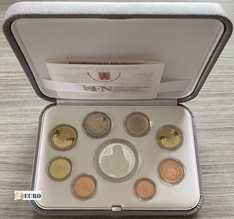 Série euro BE Proof Vatican 2020 + 20 euros argent