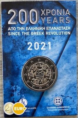 2 euros Grèce 2021 - Révolution grecque BU FDC Coincard