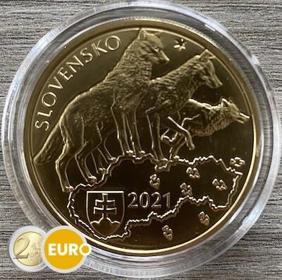 5 euros Slovaquie 2021 - Loup UNC