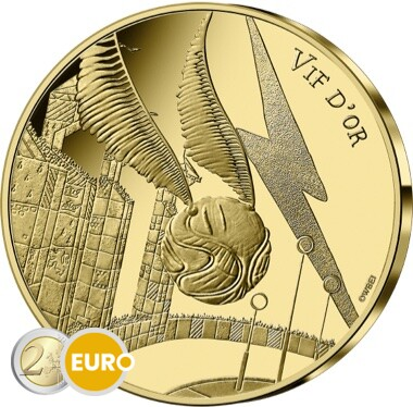 250 euros France 2021 - Harry Potter Vif d'or BE Proof Or