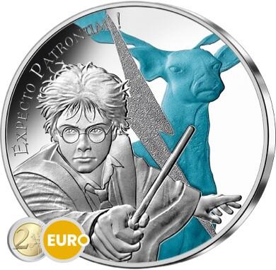 50 euros France 2021 - Harry Potter Expecto Patronum BE Proof Argent colorisé