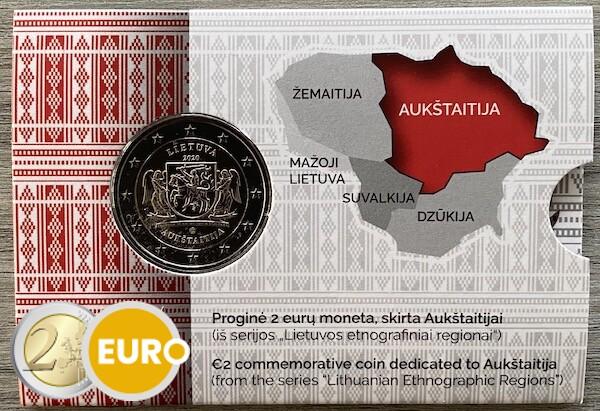 2 euros Lituanie 2020 - Région de Aukstaitija BU FDC Coincard