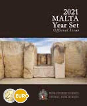 Série euro BU FDC Malte 2021 + 2 euros Temple Tarxien